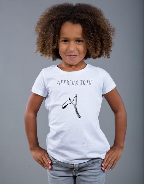 T-shirt Fille Blanc Affreux Jojo
