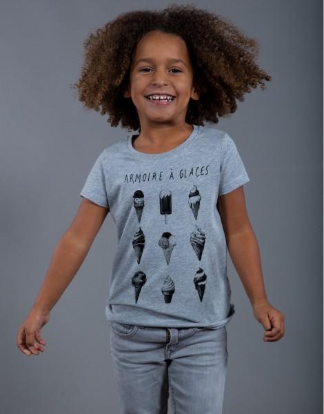 T-shirt Fille Gris Armoire à Glaces