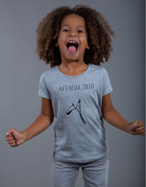 T-shirt Fille Gris Affreux Jojo