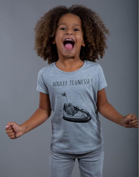 T-shirt Fille Gris Roulez Jeunesse