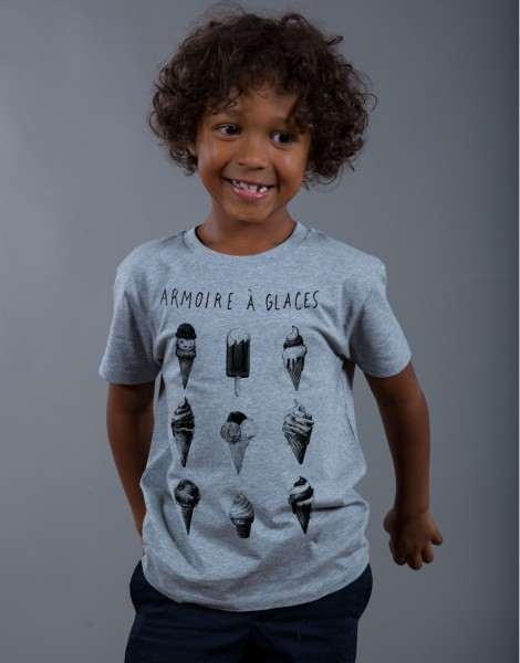 T-shirt Garçon Gris Armoire à Glaces
