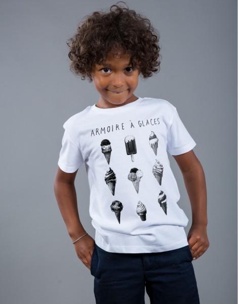 T-shirt Garçon Blanc Armoire à Glaces