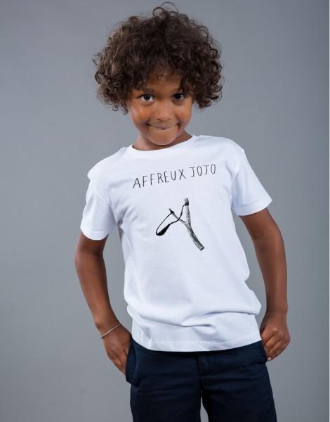 T-shirt Garçon Blanc Affreux Jojo