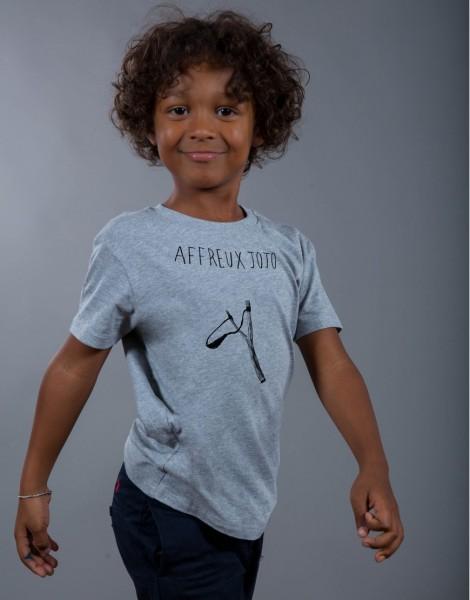 T-shirt Garçon Gris Affreux Jojo