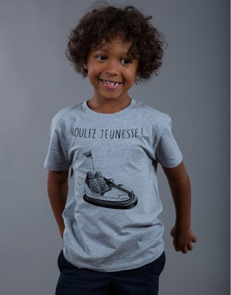 T-shirt Garçon Gris Roulez Jeunesse