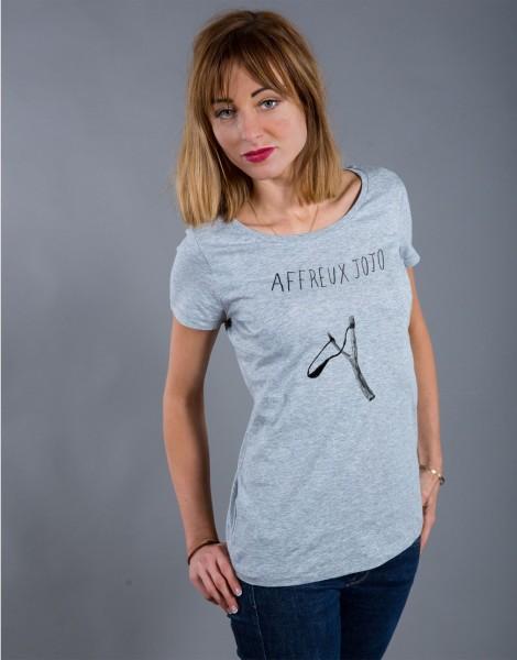 T-shirt Femme Gris Affreux Jojo