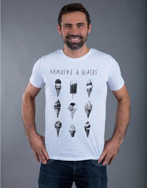 T-shirt Homme Blanc Armoire à Glaces