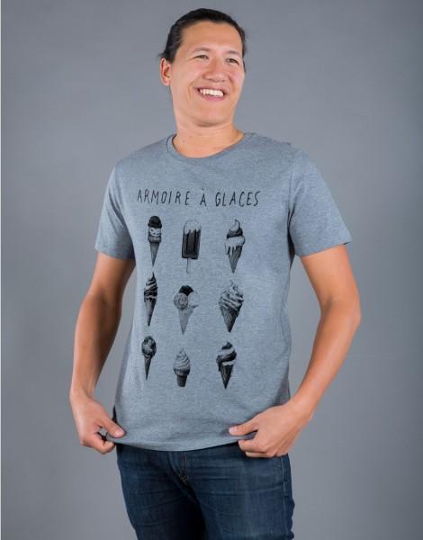 T-shirt Homme Gris Armoire à Glaces