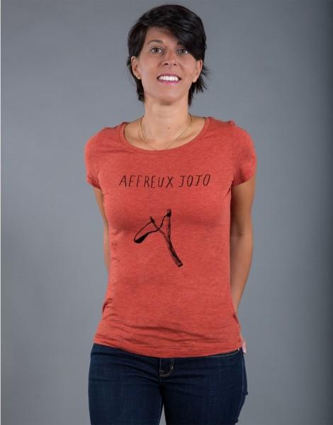 T-shirt Femme Rouge brique Affreux Jojo