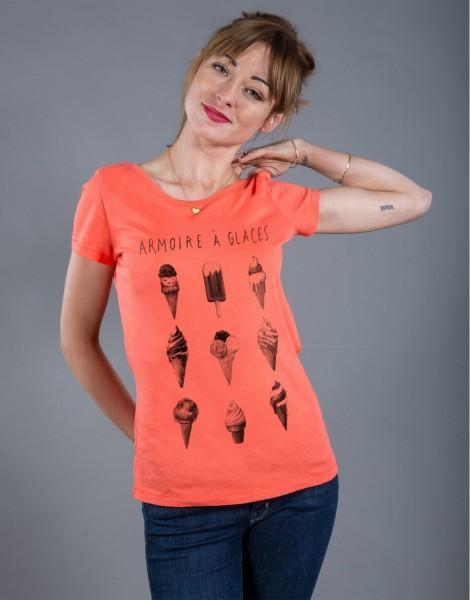 T-shirt Femme Corail Armoire à Glaces