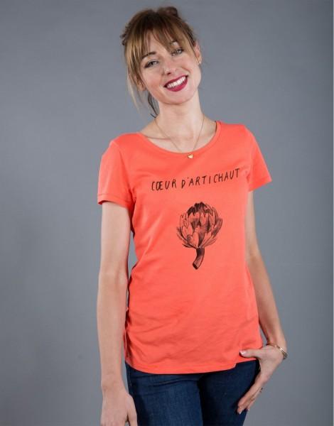 T-shirt Femme Corail Coeur d'Artichaut