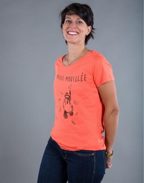 T-shirt Femme Corail Poule Mouillée
