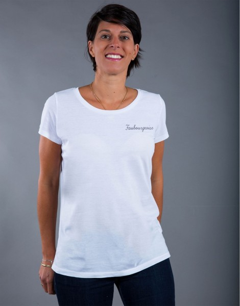 T-shirt Femme Blanc Faubourgeoise
