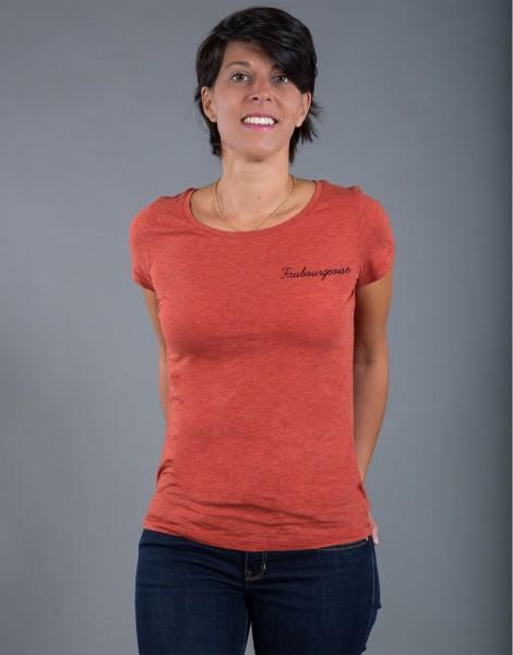 T-shirt Femme Rouge brique Faubourgeoise