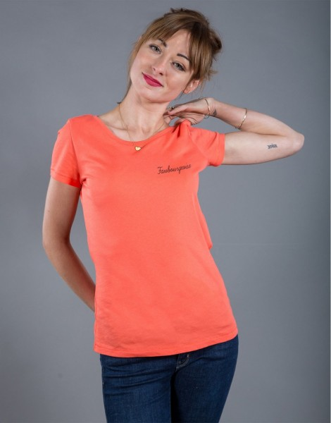 T-shirt Femme Corail Faubourgeoise