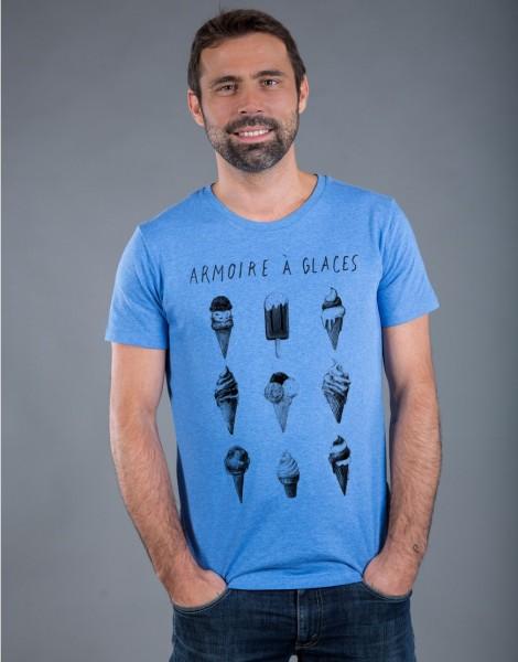 T-shirt Homme Bleu Armoire à Glaces