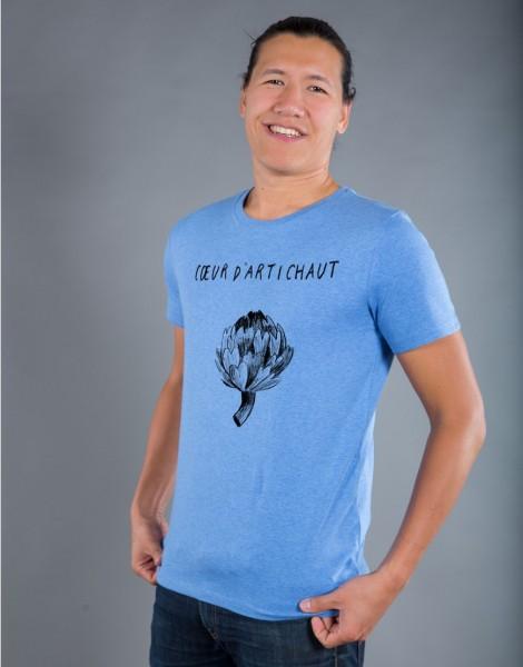 T-shirt Homme Bleu Coeur d'Artichaut