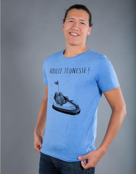 T-shirt Homme Bleu Roulez Jeunesse