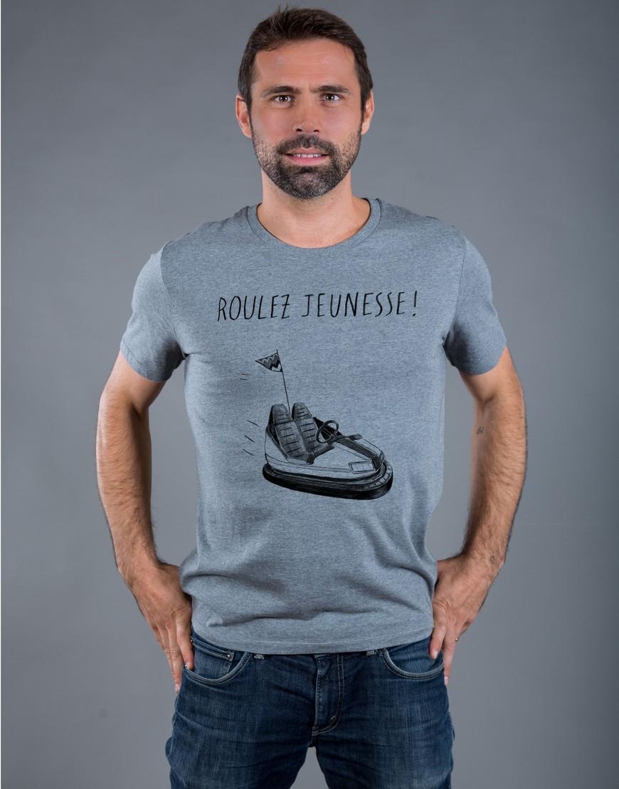 T-shirt Homme Gris Roulez Jeunesse