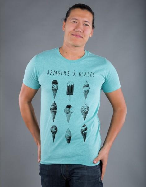 T-shirt Homme Vert Armoire à Glaces