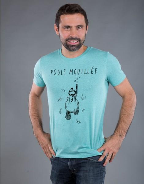 T-shirt Homme Vert Poule Mouillée