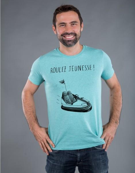 T-shirt Homme Vert Roulez Jeunesse