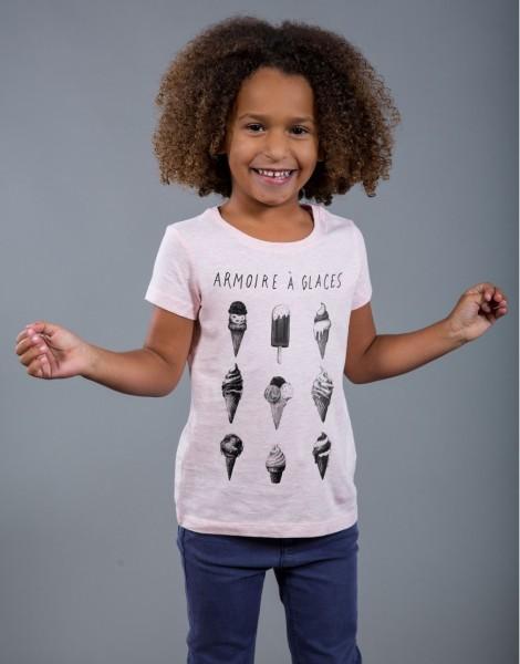 T-shirt fille Rose Armoire à Glaces