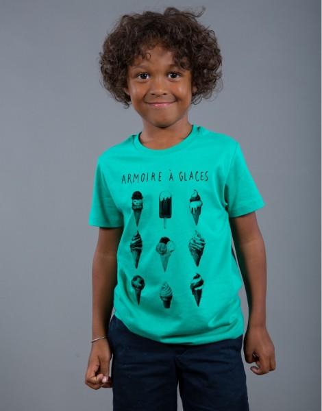 T-shirt Garçon Vert Armoire à Glaces