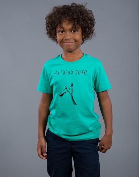 T-shirt Garçon Vert Affreux Jojo