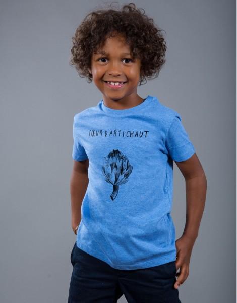 T-shirt Garçon Bleu Coeur d'Artichaut
