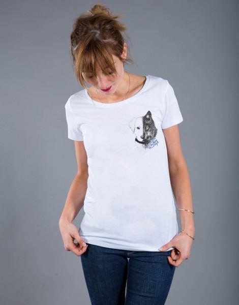 T-shirt Femme Blanc Entre Chien et Loup - Petit format