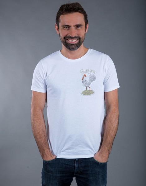 T-shirt Femme Blanc Coq en Pâte