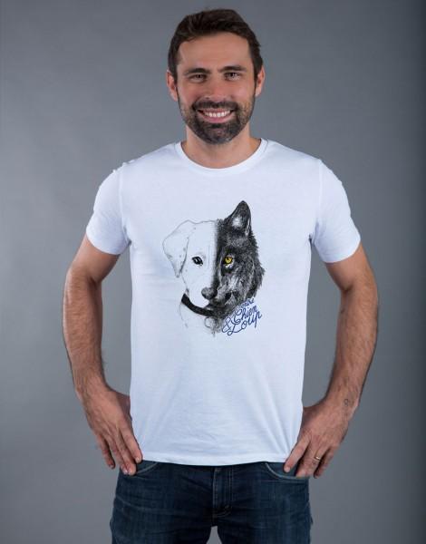 T-shirt Homme Blanc Entre Chien et Loup