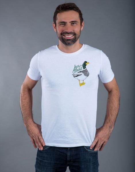 T-shirt Homme Blanc Face de Canard - Petit format