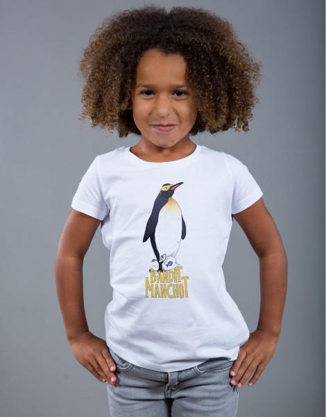T-shirt Fille Blanc Bandit Manchot