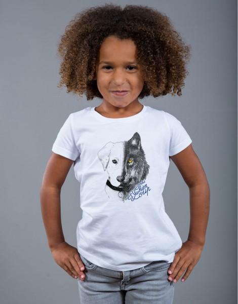 T-shirt Fille Blanc Entre Chien et Loup