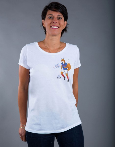 T-shirt Femme Blanc Renard des Surfaces - Petit format