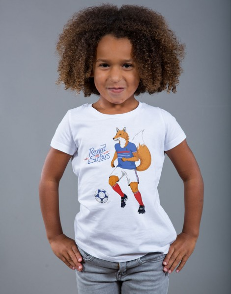 T-shirt Fille Blanc Renard des Surfaces