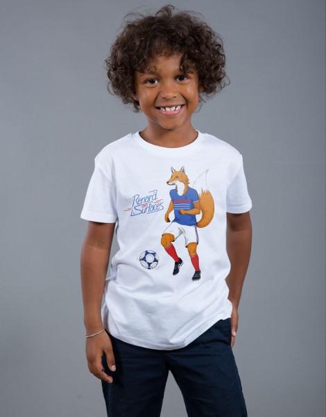 T-shirt Garçon Blanc Renard des Surfaces